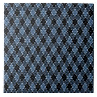 El blanco del negro azul de Argyle raya el modelo  Tejas