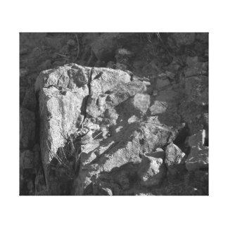 El blanco del negro de la roca impresiones en lona