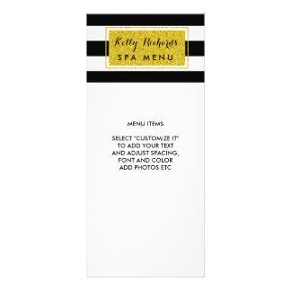 El blanco del negro del encanto del oro raya el tarjetas publicitarias