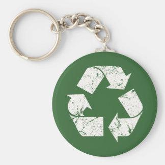 El blanco del vintage de TJED recicla la muestra Llavero Redondo Tipo Pin