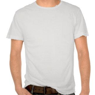 El blanco destruido del m de Minerva del hotel Camiseta