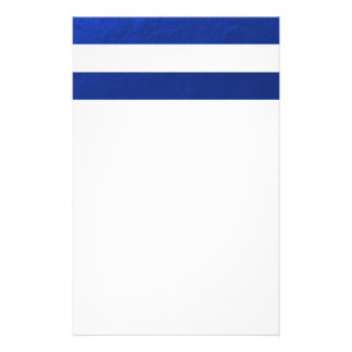 El blanco elegante raya la hoja azul impresa papelería de diseño
