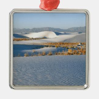 El blanco enarena el monumento nacional, dunas adorno navideño cuadrado de metal