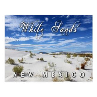 El blanco enarena el monumento nacional New Méxic