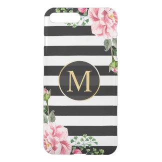 El blanco floral moderno del negro de la fundas para iPhone 7 plus