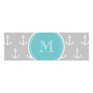 El blanco gris ancla el modelo, monograma del trul plantilla de tarjeta personal