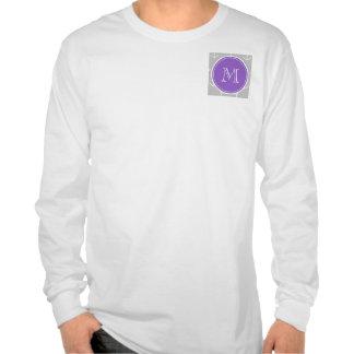 El blanco gris ancla el modelo monograma púrpura