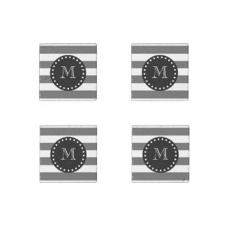 El blanco gris de carbón de leña raya el modelo, M Imán De Piedra
