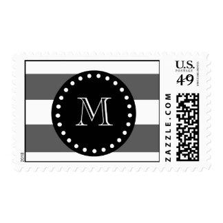 El blanco gris de carbón de leña raya el modelo M Franqueo