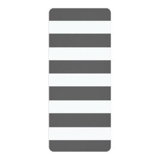 El blanco gris moderno de carbón de leña raya el invitación 10,1 x 23,5 cm