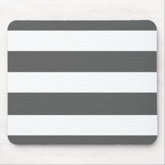 El blanco gris moderno de carbón de leña raya el m tapete de raton