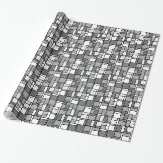 El blanco gris múltiple Mondrian inspiró el modelo Papel De Regalo