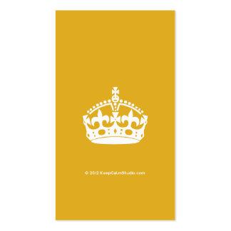 El blanco guarda la corona tranquila en fondo del tarjetas de visita
