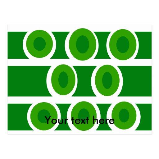 El blanco moderno circunda el fondo verde tarjeta postal