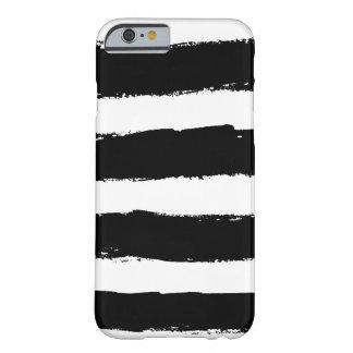 El blanco negro del Grunge raya la caja del iPhone Funda Barely There iPhone 6