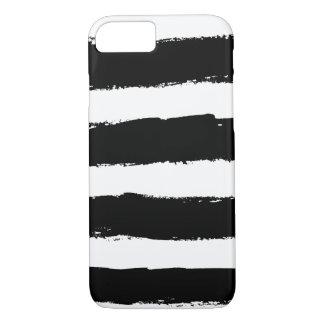 El blanco negro del Grunge raya la caja del iPhone Funda iPhone 7