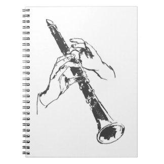 El blanco negro del vintage da el Clarinet Benny G Libretas