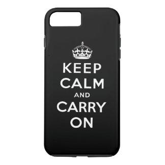 El blanco negro guarda calma y continúa funda iPhone 7 plus