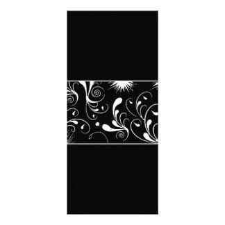 el blanco negro remolina shap digital del diseño g tarjetas publicitarias a todo color