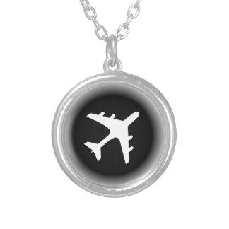 El blanco negro se descolora diseño del aeroplano pendiente personalizado