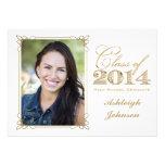 El blanco, oro, graduación 2014 de la foto del roj comunicado personal