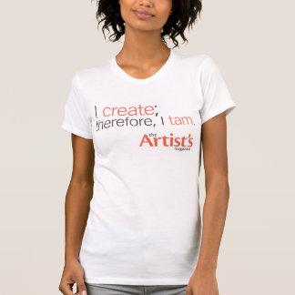 El blanco para mujer T de la revista del artista Camiseta