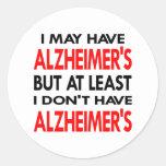 El blanco puede tener Alzheimers Etiqueta