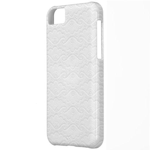 El blanco puro remolina el caso iPone5 Funda Para iPhone 5C