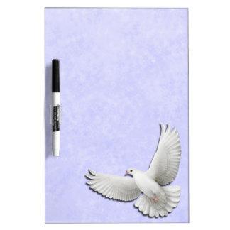 El blanco que volaba se zambulló en azul seca al t pizarras blancas