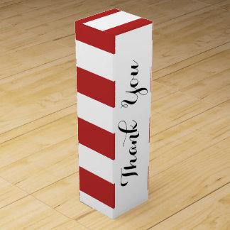 El blanco rojo moderno raya el rojo y el whi de caja para bino