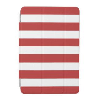 El blanco rojo moderno raya el rojo y el whi de cubierta de iPad mini