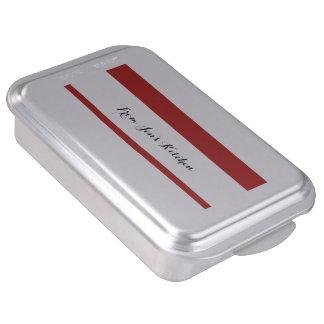 El blanco rojo moderno raya el rojo y el whi de Pa Molde Para Pasteles
