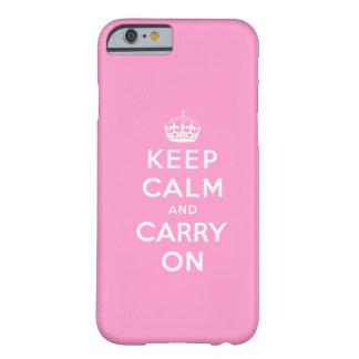 El blanco rosado guarda calma y continúa el caso funda de iPhone 6 barely there