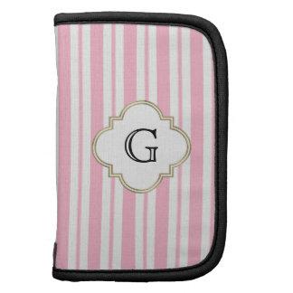 El blanco rosado raya #2, etiqueta blanca del planificadores