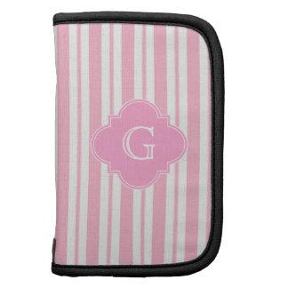 El blanco rosado raya #2, etiqueta rosada del planificador