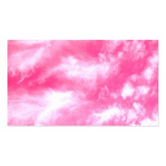El blanco se nubla el cielo rosado tarjetas de visita