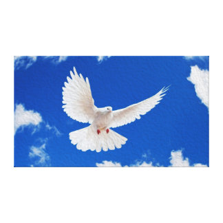 El blanco se zambulló en vuelo impresión en lienzo