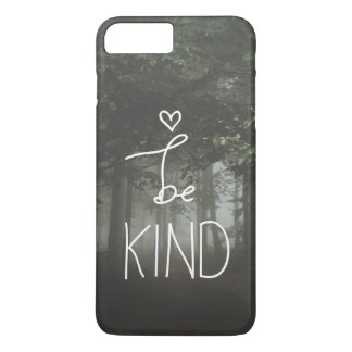 El blanco sea tipografía linda del corazón de la funda iPhone 7 plus