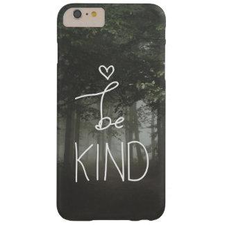 El blanco sea tipografía linda del corazón de la funda para iPhone 6 plus barely there