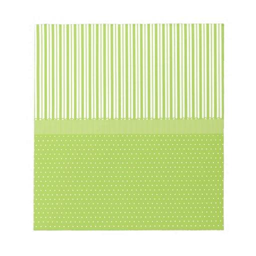 El blanco verde raya lunares con una cinta bloc