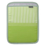 El blanco verde raya lunares con una cinta mangas de iPad
