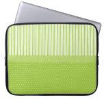 El blanco verde raya lunares con una cinta manga portátil