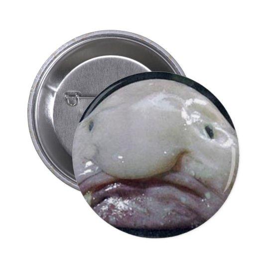 El Blobfish Pin Redondo De 2 Pulgadas