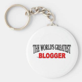 El Blogger más grande del mundo Llavero Redondo Tipo Pin