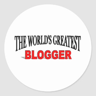 El Blogger más grande del mundo Pegatina Redonda
