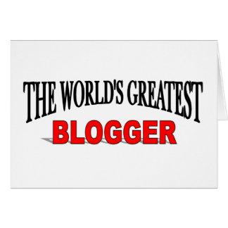 El Blogger más grande del mundo Tarjeta De Felicitación