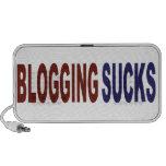 El Blogging chupa Portátil Altavoces