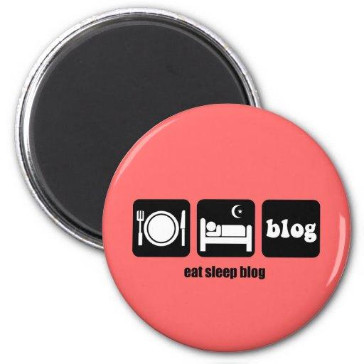 El blogging divertido iman de nevera