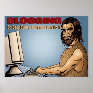 El Blogging tan fácil incluso un hombre de las Póster