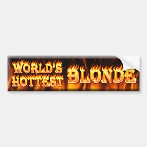 el blonde más caliente del mundo pegatina para auto